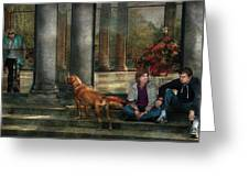 Animal - Dog - Hello There Greeting Card