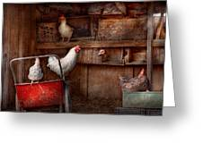 Animal - Chicken - The Duck Is A Spy  Greeting Card by Mike Savad
