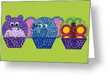 Animal Cupcakes 2 Greeting Card