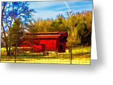 Animal Farm Painting Greeting Card