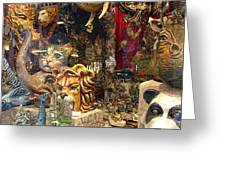 Animal Masks From Venice Greeting Card