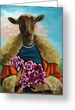 animal portrait - Flora Shepard Greeting Card