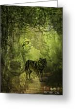 Animal Sprits - The Wolf Greeting Card