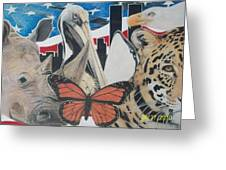 Animals Of Freedom  Greeting Card