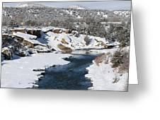Animas River In January Greeting Card