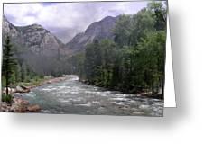 Animas River Morning Greeting Card