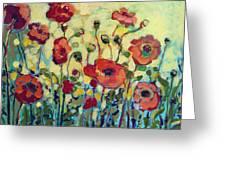 Anitas Poppies Greeting Card
