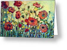 Anitas Poppies Greeting Card by Jennifer Lommers
