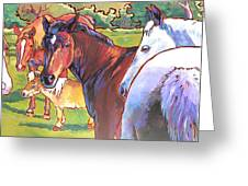 Anjelica Huston's Horses Greeting Card