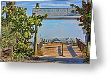 Anna Maria City Pier Landmark Greeting Card