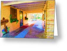 Anna Maria Elementary Office Hallway C130662 Greeting Card