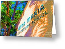 Anna Maria Elementary School Sign C131272 Greeting Card