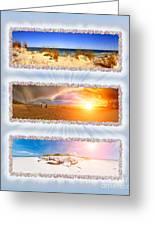 Anna Maria Island Beach Collage Greeting Card