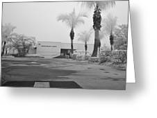Anna Maria Island Branch Library In Fog Infrared 50 Greeting Card