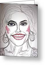 Anna Nicole Smith Greeting Card