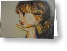 Anna Pensive I Greeting Card