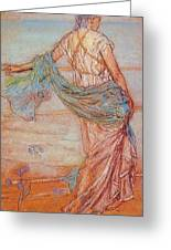 Annabel Lee James Abbott Mcneill Whistler Greeting Card