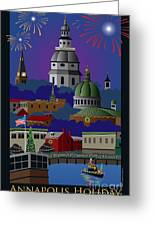 Annapolis Holiday With Title Greeting Card