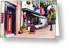 Annapolis Md - Restaurant On State Circle Greeting Card