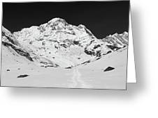 A View Of Annapurna South Greeting Card