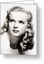 Anne Francis, Vintage Actress By John Springfield Greeting Card
