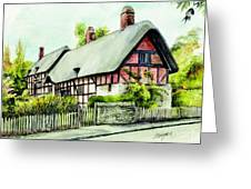 Anne Hathaway Cottage England Greeting Card