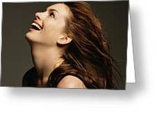 Anne Hathaway Greeting Card
