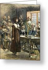 Anne Hutchinson, 1591-1643 Greeting Card