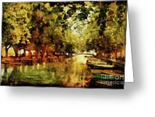 Annecy France Pont Des Amours Greeting Card