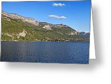 Annecy Lake Panorama Greeting Card