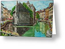 Annecy-the Venice Of France Greeting Card