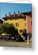 Annecy Town Square Greeting Card