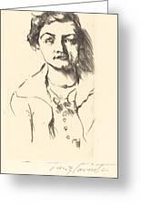 Anneliese Halbe (bildnis Einer Jungen Dame (anneliese Halbe)) Greeting Card