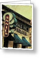 Annie's Parlour At The U Of M Greeting Card