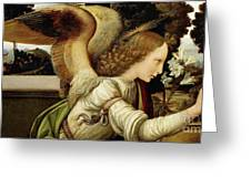 Announcing Angel, Detail From Annunciation Greeting Card