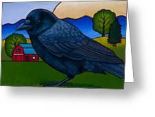 Anns Crow Greeting Card