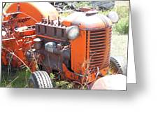 Another Angle Of Old Tractor Greeting Card