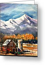 Another Colorado Barn Greeting Card