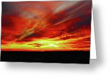 Another Illinois Sunset Greeting Card