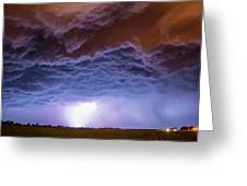 Another Impressive Nebraska Night Thunderstorm 007 Greeting Card