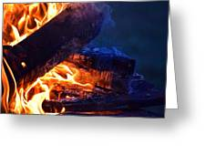 Another Log On The Fire Greeting Card