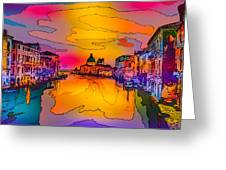 Another Surreal Venice Sunset Greeting Card
