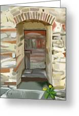 Another Tuscan Door Greeting Card