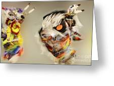 Pow Wow Another World Another Time Greeting Card