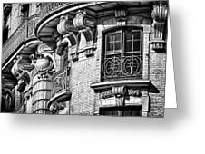 Ansonia Building Detail 36 Greeting Card by Val Black Russian Tourchin