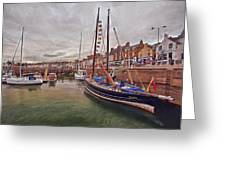 Anstruther Harbor Greeting Card
