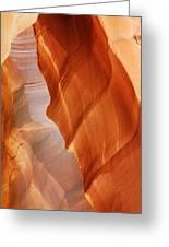 Antelope Canyon - Arizona's Sandstone Cathedral Greeting Card by Christine Till