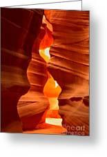 Antelope Canyon Candle Greeting Card
