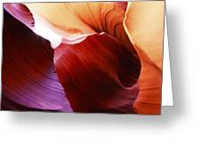 Antelope Canyon Layers Greeting Card
