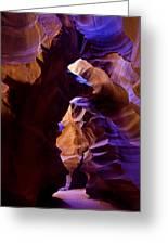 Antelope Canyon Seventeen Greeting Card